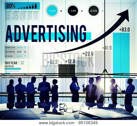 Advertising Advertise Branding Commercial Marketing Concept poster