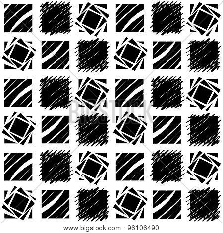 Black And White Square Quilt Pattern