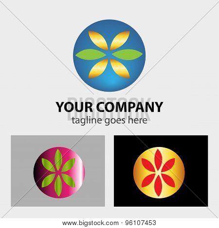 Corporate Logo Design vector illustration template abstract.