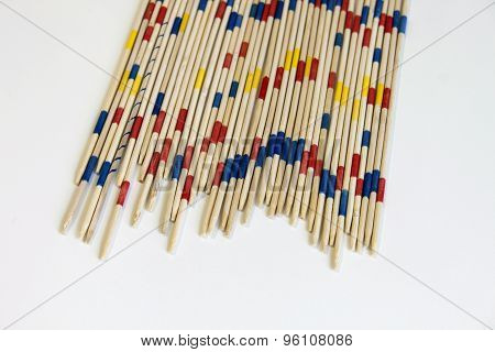 mikado micado game play random wooden color