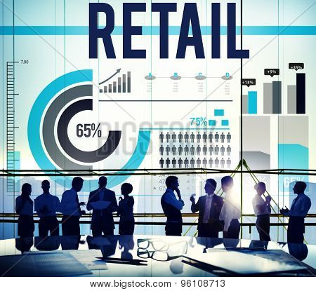 Retail Purchase Sale Consumer Capitalism Concept poster