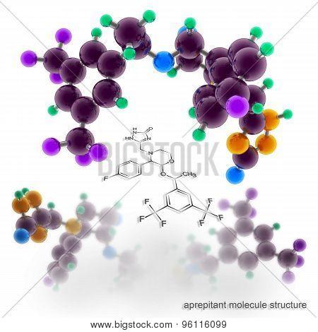 Aprepitant Molecule Structure.
