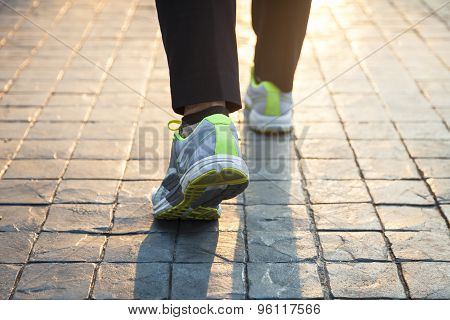 Woman Walking Exercise Outdoor