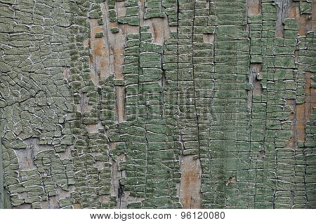 Painted Cracked Wooden Background