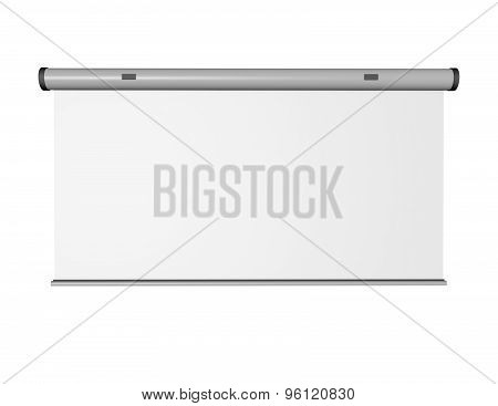 3D Mesage Board Perspective View Isolated On White