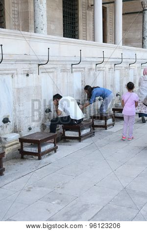 Ablution Before Praying