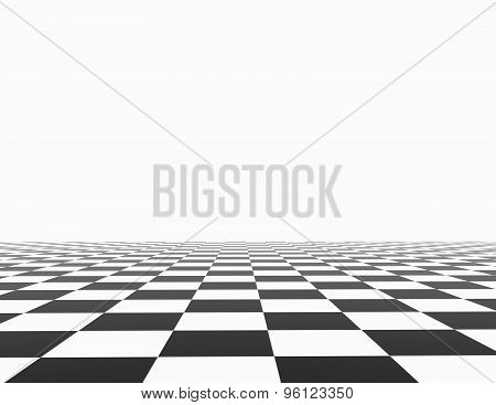 Chess Board With White Background Template.