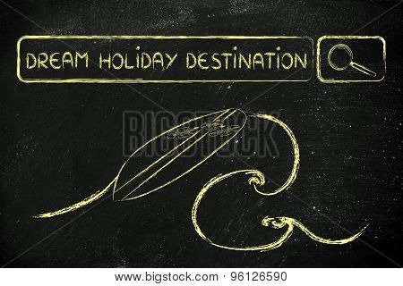 Searching Online For Dream Holiday Destinations
