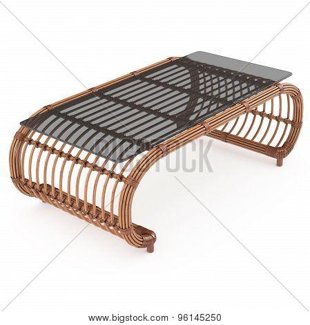 Table rattan 3d graphics