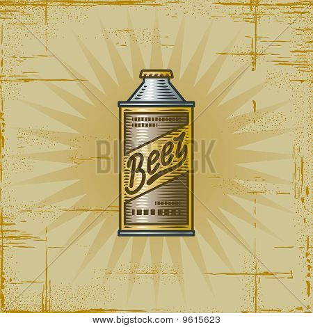Retro Beer Can