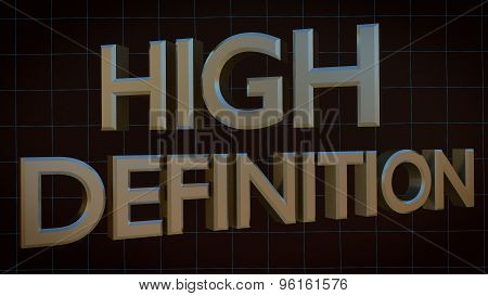 High Definition HD 3D Metal words letters