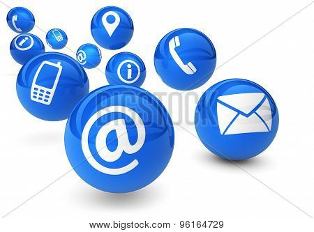 Contact Us Icons Web Connection