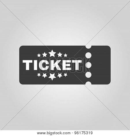 The ticket icon. Ducket and seat, tkt symbol. Flat