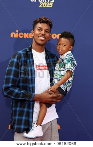 LOS ANGELES - JUL 16:  Nick Young at the 2015 Kids' Choice Sports at the UCLA's Pauley Pavilion on July 16, 2015 in Westwood, CA