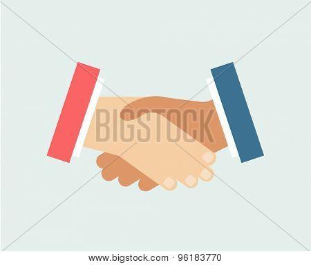 Handshake vector logo icons set. Objects, techno and finance symbols. Stock design elements