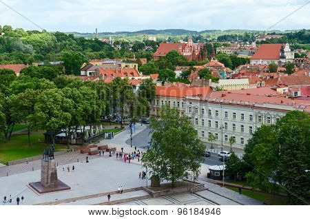 View Of Old City From Observation Deck Of Bell Tower Of Cathedral Of St. Stanislaus And St. Vladisla