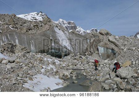 Glacier Door And Little Bridge