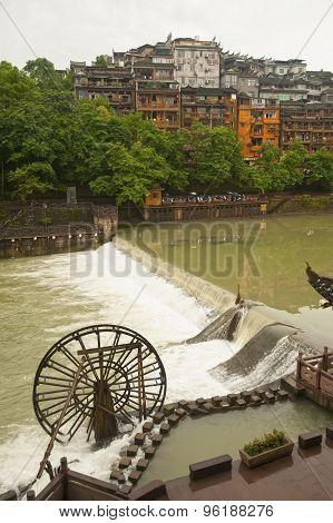 Waterwheel In Fenghuang Ancient City.