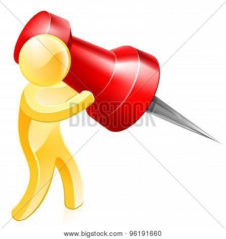 Thumb Tack Person