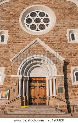 Entrance Of The Christuskirche In Windhoek