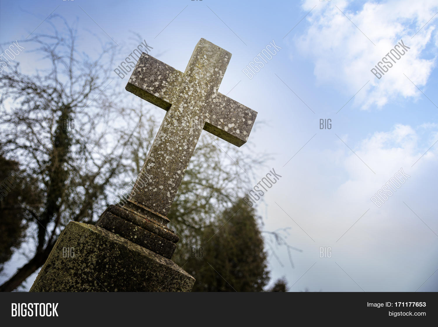 Weathered Stone Cross Image Photo Free Trial Bigstock