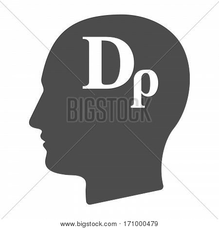 Isolated Male Head With A Drachma Currency Sign