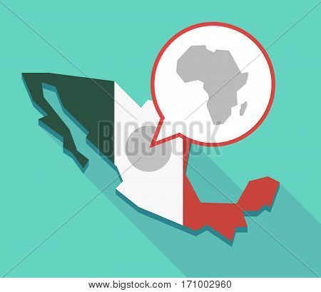 Long Shadow Mexico Map With  A Map Of The African Continent