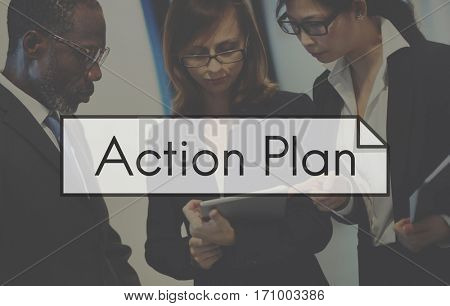 Business Teamwork Strategy Action Planning