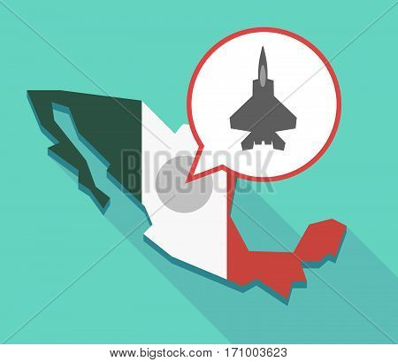 Long Shadow Mexico Map With A Combat Plane