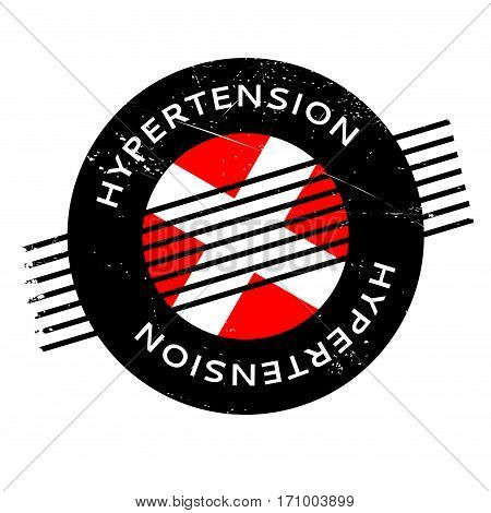 Hypertension rubber stamp. Grunge design with dust scratches. Effects can be easily removed for a clean, crisp look. Color is easily changed.