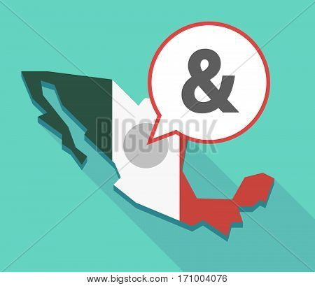 Long Shadow Mexico Map With An Ampersand