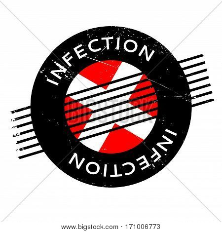 Infection rubber stamp. Grunge design with dust scratches. Effects can be easily removed for a clean, crisp look. Color is easily changed.