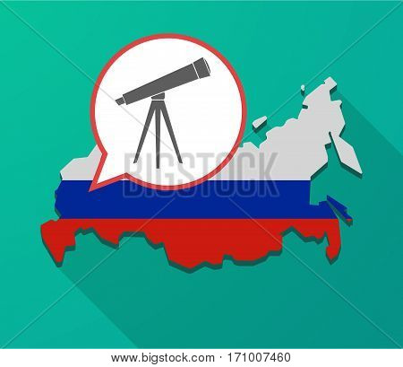 Long Shadow Russia Map With A Telescope
