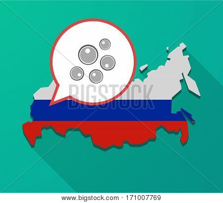 Long Shadow Russia Map With Oocytes