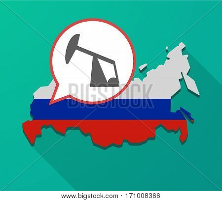 Long Shadow Russia Map With A Horsehead Pump