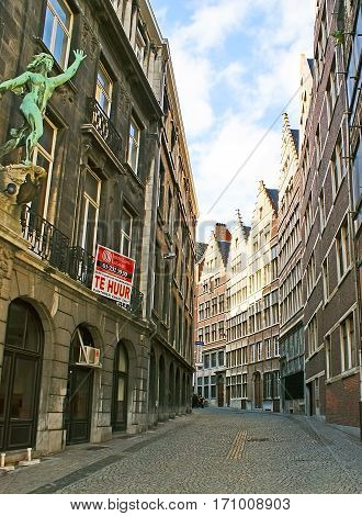 The Twisted Street In Antwerp