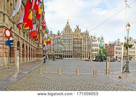The Great Market Square Of Antwerp