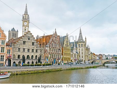 The Quayside In Ghent