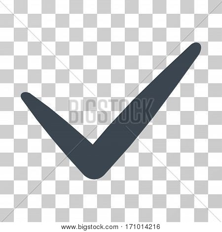Valid icon. Vector illustration style is flat iconic symbol smooth gray color transparent background. Designed for web and software interfaces.
