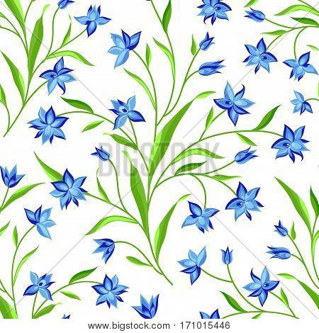 Floral Seamless Pattern. Flower Background. Floral Seamless Texture With Flowers. Flourish Garden Wa