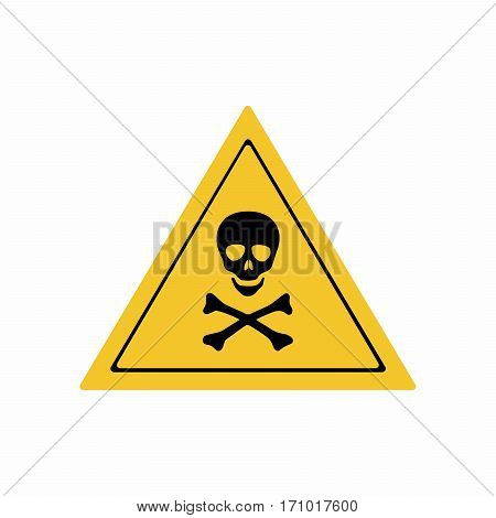 Warning toxic hazard sign vector design isolated on white background