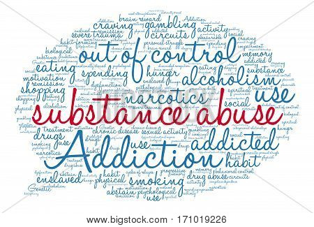 Substance Abuse Word Cloud