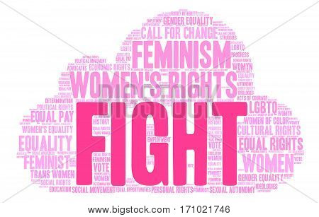 Fight Word Cloud