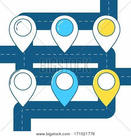 Map Pin Line Design