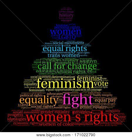 Fight Womens Rights Word Cloud