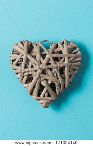 Heart-shaped Woven Wicker Decoration For Valentine's Day, Mothers' Day