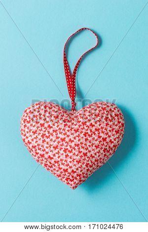 Overhead Of Heart-shaped Stuffed Ornament Valentine's Love