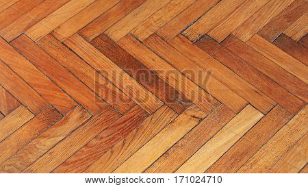 Reclaimed Used Wooden Parquet Flooring Pattern Background