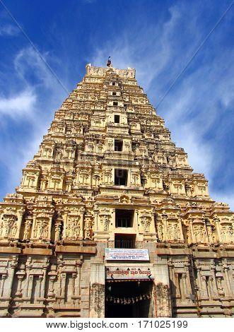 Ancient Virupaksha Temple in Hampi Karnataka India