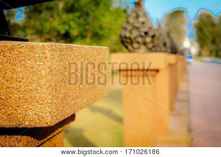 landscape land architecture building view Wat Pra That Sri Song Luk Loei Thailand Jan 2016